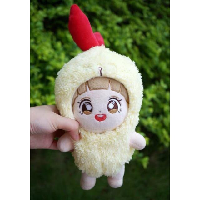 Outfit tôm chiên cho doll 15-20cm