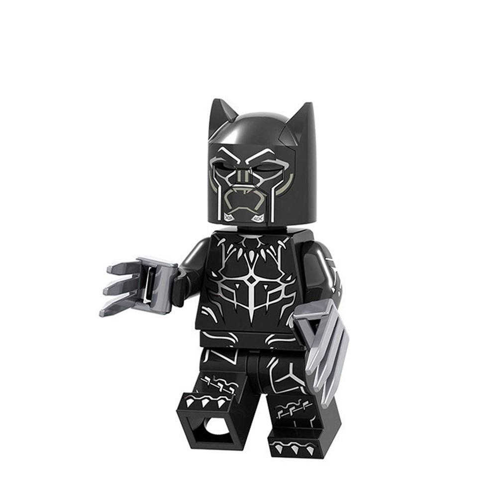 8PCS Black panther Superhero building Blocks dolls figuer Toy