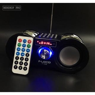 Loa nghe nhạc kiểu dáng quân đội cho điện thoại, máy tính tích hợp remote Fleco F1308