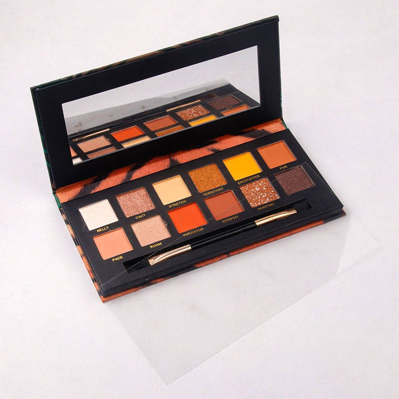 ☃❏☏Trill in same explorer 12 color eye shadow animals web celebrity model of parity with the tiger pig crocodile ice pl