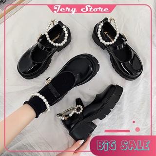 Giày nữ oxford ulzzang Lolita đính ngọc phong cách Hàn siêu cá tính. Chất liệu mềm, đi êm chân. Phong cách thời trang thumbnail