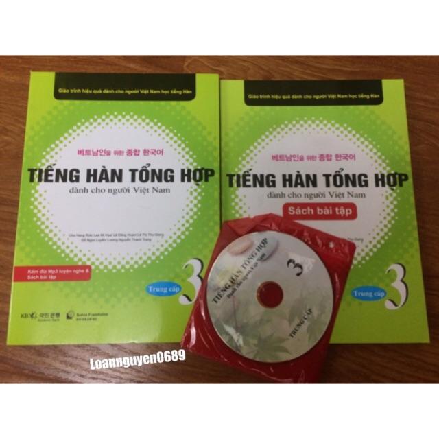 [FREESHIP99K] Sách Tiếng hàn tổng hợp dành cho người Việt Nam Sơ Cấp 3 ( Giáo Khoa + Bài Tập + CD