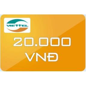 Thẻ Viettel mệnh giá 20.000 - 3065628 , 449845552 , 322_449845552 , 20000 , The-Viettel-menh-gia-20.000-322_449845552 , shopee.vn , Thẻ Viettel mệnh giá 20.000