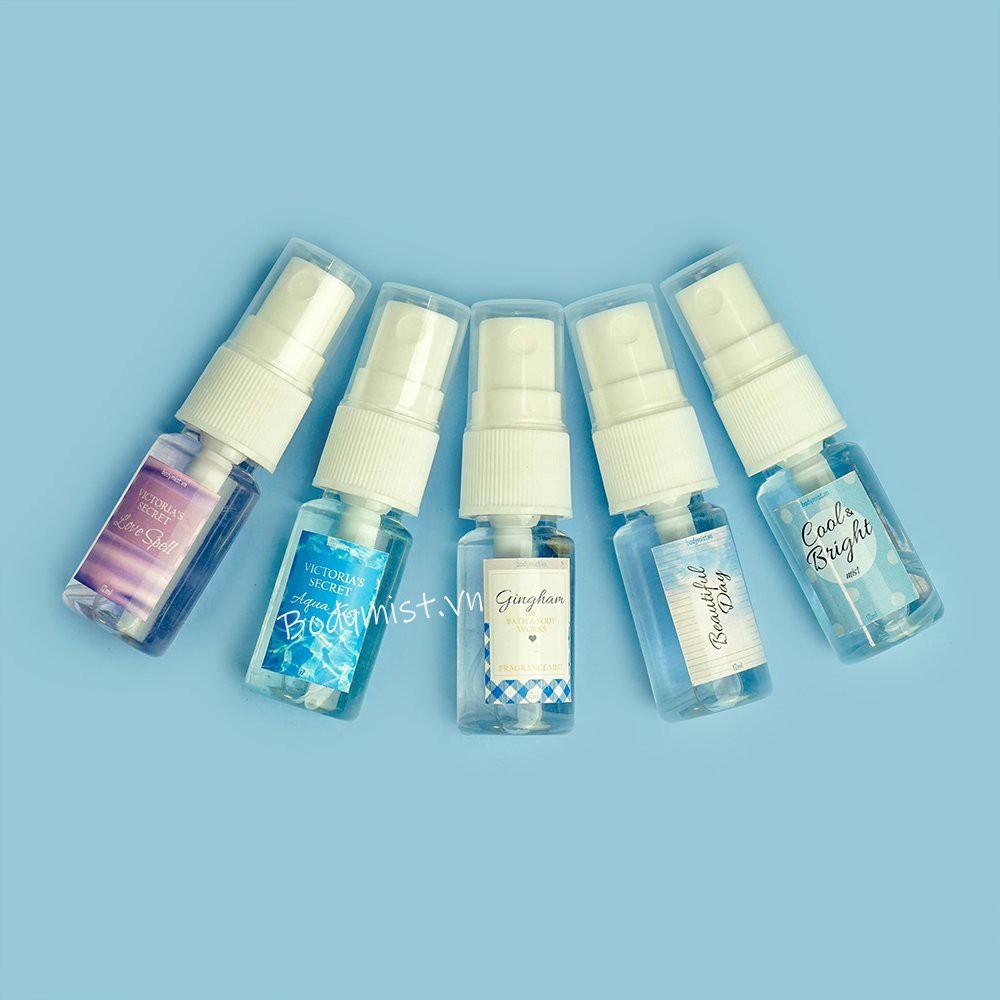 [Bill Mỹ] Xịt thơm toàn thân hương nước hoa Victoria Secret, Bath And Body Works 12ML