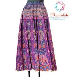 [ẢNH THẬT] Chân váy xoè thổ cẩm Ấn Độ freesize