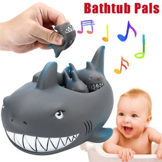Baby Floating Bath Tub Toy Rubber Shark for Family Bathtub