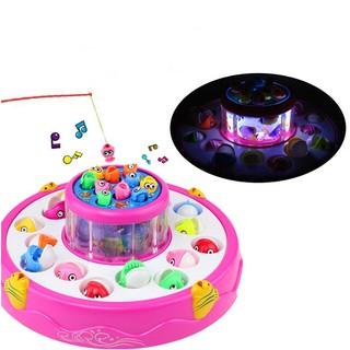 Bộ đồ chơi câu cá 2 tầng có nhạc có đèn