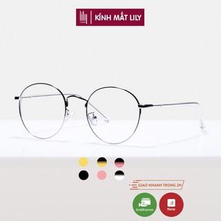 Gọng kính cận kim loại nam nữ mắt tròn thời trang 9901 Lilyeyewear nhiều màu