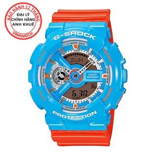 Đồng hồ Nam G-Shock Casio dây nhựa kim-điện tử GA-110NC-2ADR - Chính hãng Casio Anh Khuê thumbnail