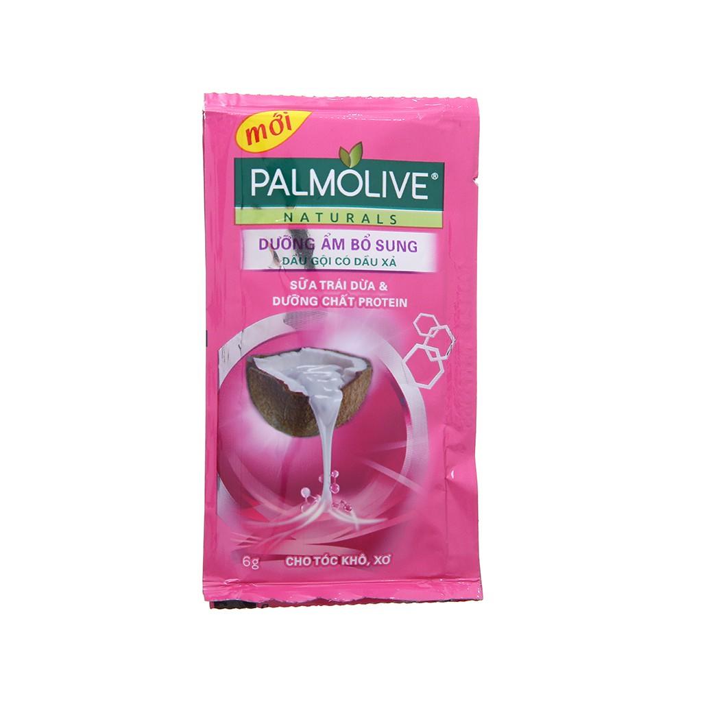 Dầu gội Palmolive dây 12 gói (hồng / tím)