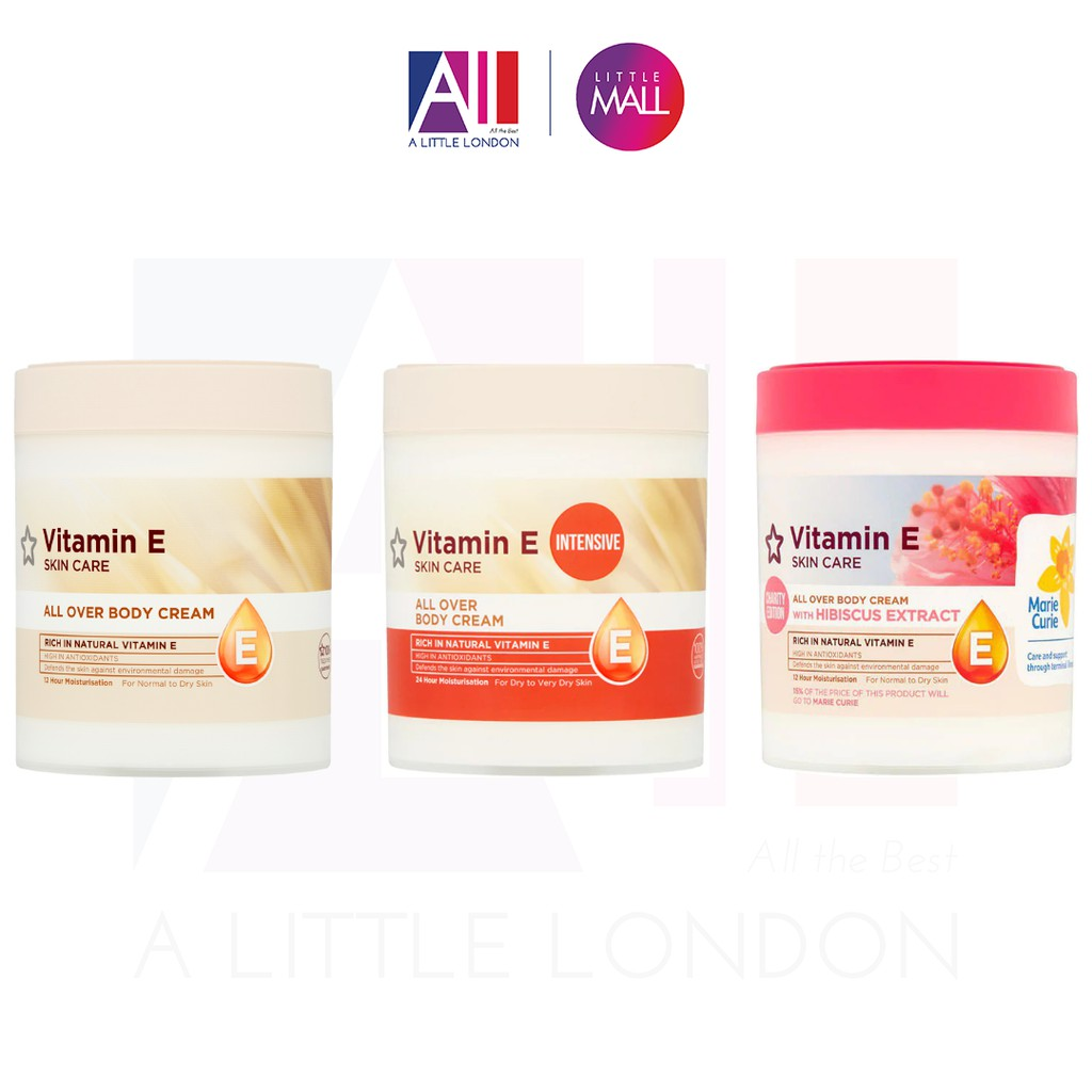[TOP 1 SHOPEE] Kem dưỡng thể Superdrug Vitamin E Body Cream (Bill Anh)