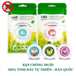 [FREE SHIP] Kẹp chống muỗi Bikit Guard cho bé – chiết xuất 100% tinh dầu chanh sả tự nhiên Hàn Quốc