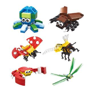 đồ chơi lắp ráp mô hình con ong, cua, côn trùng
