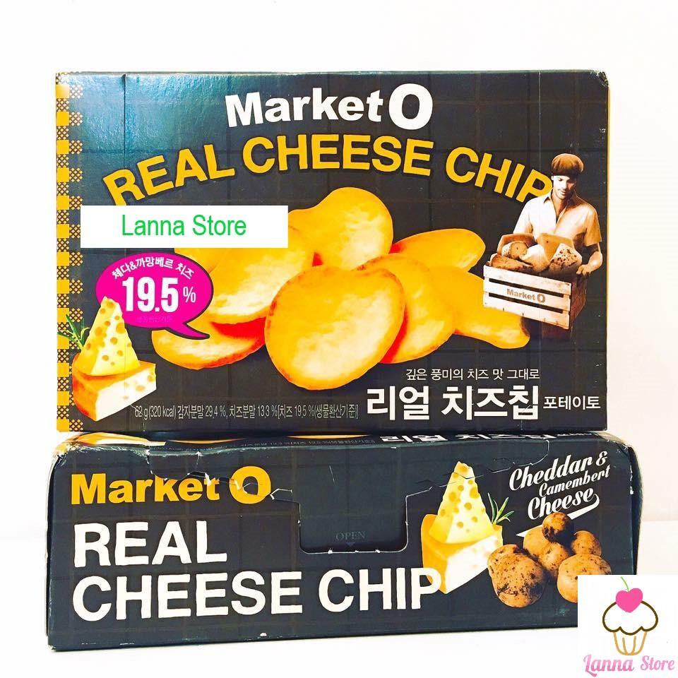 Snack khoai tây tẩm phô mai MarketO - Hàn Quốc