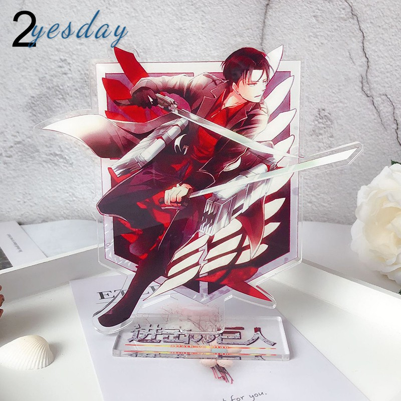 COD Attack on Titan Levi Ackerman Double-sided Acrylic Stand Figure Character Decoration Standing Cartoon Home Collection YD
