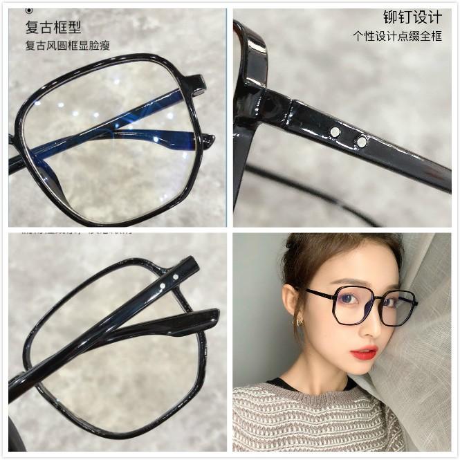 [ Hàng Hot ] Kính mát gọng tròn chống tia sáng xanh thời trang dành cho nữ và nam