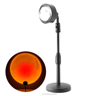 Gift Background Room Decor Floor Stand 90 Degree Rotation Romantic Visual Mood Sunset Projection LED Light