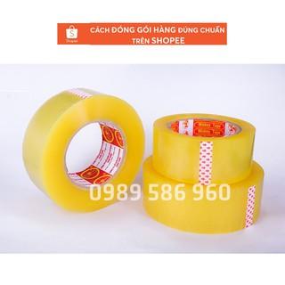 Băng dính 0.9kg lõi nhựa 2,4mm gia chỉ 49.000 đ cuộn .(quý khách lưu ý hàng 2.4mm trên thị trường đăng thực chất là 3mm thumbnail