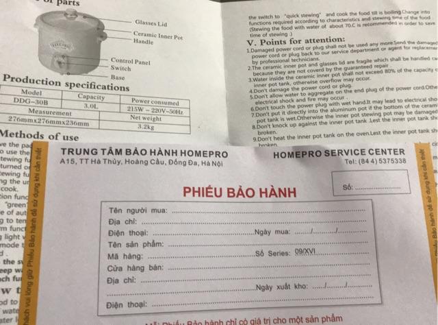 [Freeship toàn quốc từ 50k] Nồi kho cá Homepro Thái Lan DDG-30b