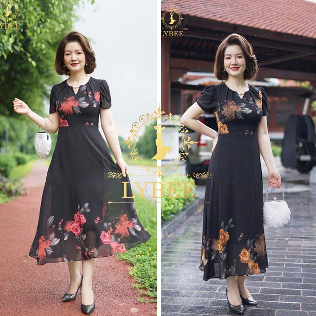 Váy Đầm Trung Niên Hàng Thiết Kế Lybee (mã 381)
