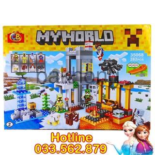 Bộ Lego Xếp Hình Mineecraft My World 282 Chi Tiết. Lego Ninjago Lắp Ráp Cho Bé Chơi Cực Thích bakhong