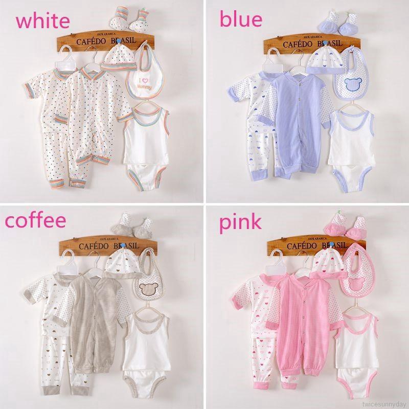 Bộ trang phục 8 món cho trẻ từ 0 tới 3 tháng tuổi