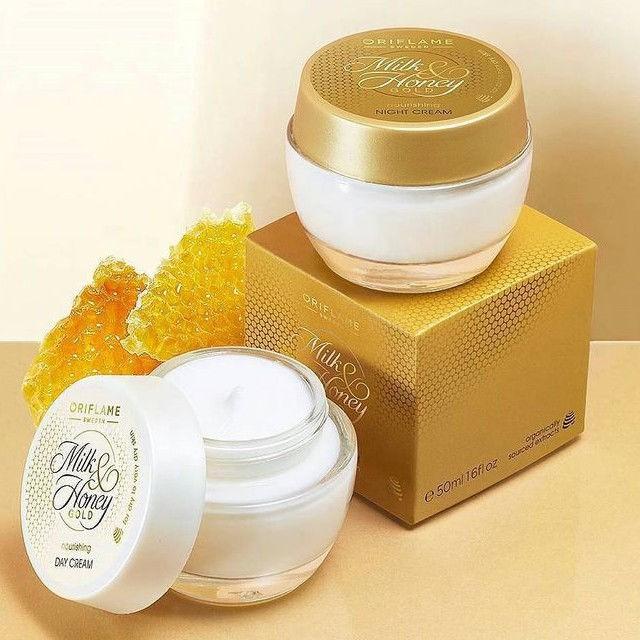 COMBO KEM DƯỠNG NGÀY VÀ ĐÊM Milk & Honey Gold