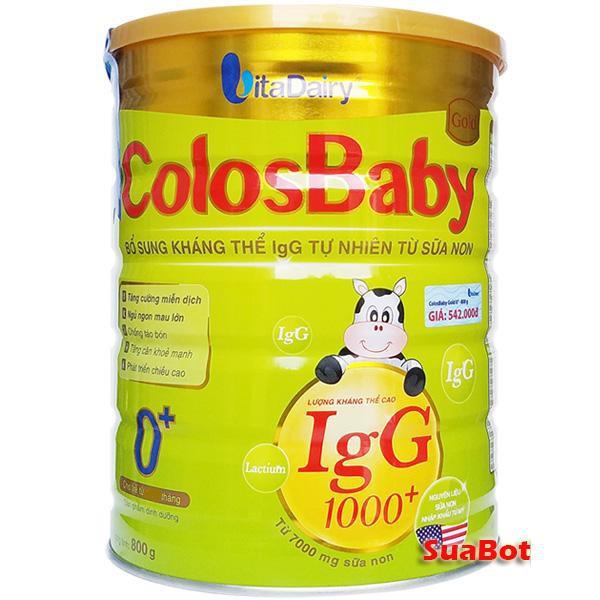 Sữa Non ColosBaby Gold 1000IgG 0+ (800g)