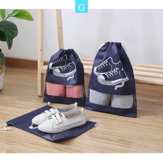 Túi đựng giày dép du lịch không thấm nước có dây rút loại to tiện dụng G-SPORTS thumbnail