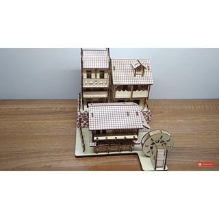 Mô hình lắp ghép 3d bằng gỗ Thị Trấn cổ Phoenix