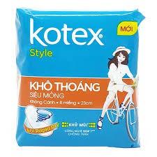 8 goi 1 Băng vệ sinh Kotex Style siêu mỏng không cánh