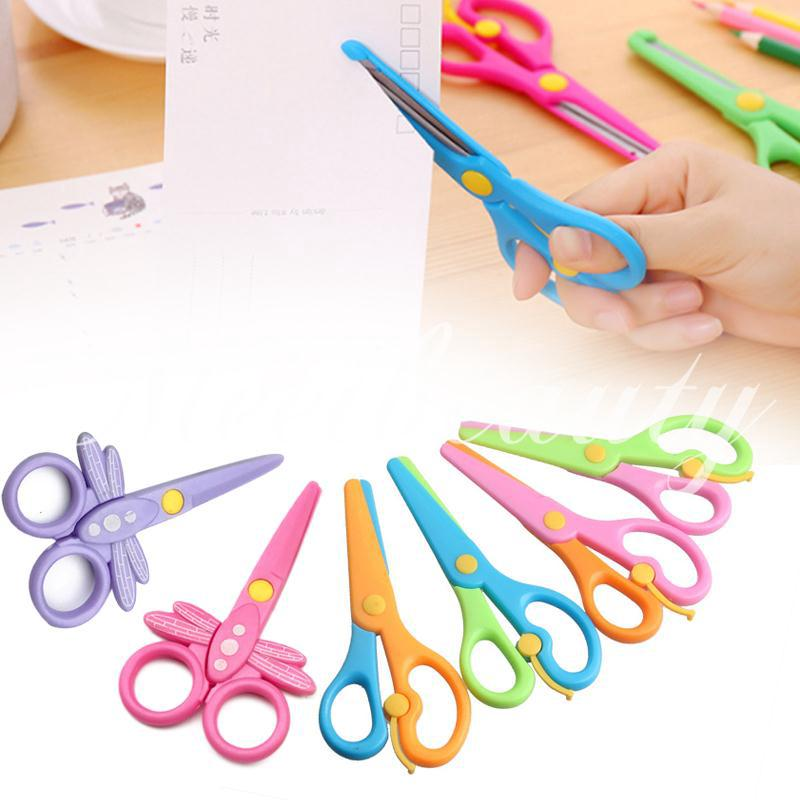 💕COD💕 Handmade Scissors Safe ABS Play House Plastic Scissors Hand-Eye Coordination