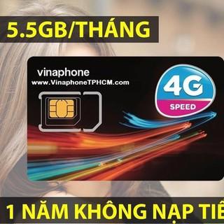 Sim Vinaphone 4G Vina12T trọn gói 1 năm với 5.5GB/tháng d500, không cần nạp tiền, không mất phí duy trì