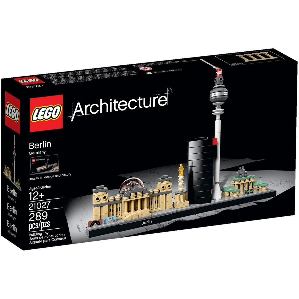 Bộ lắp ráp Thành phố Berlin - LEGO Architecture 21027 Berlin