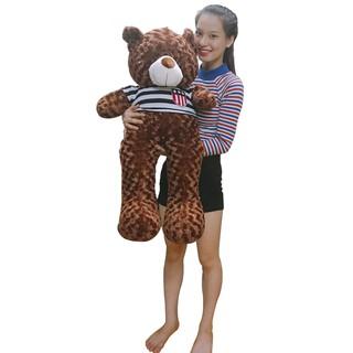 Gấu bông Teddy Cao Cấp khổ vải 80cm Cao 60cm màu Nâu hàng VNXK – 42