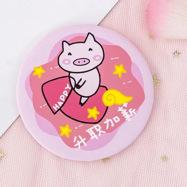Gương mini heo hồng