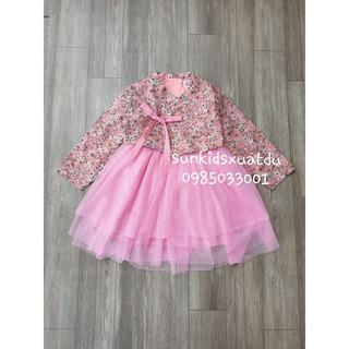 Sét 2 chi tiết váy HANBUK hoa voan hồng