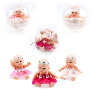 ❀pgs❀Simulation Pocket Baby Doll Transparent Ball Cute Toy Kids Birthday Gift ❀❀