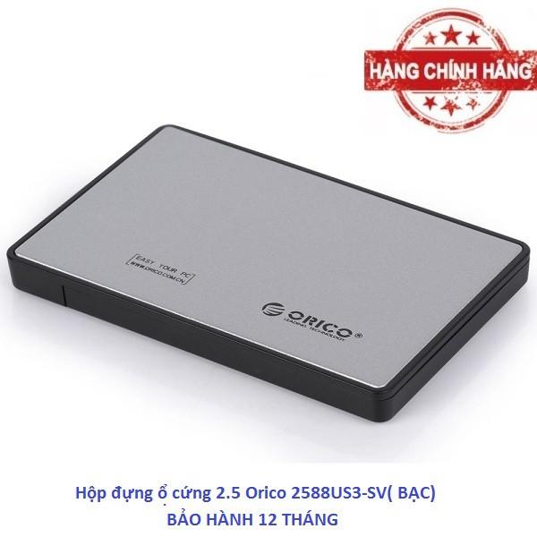 Hộp đựng ổ cứng 2.5 Orico 2588US3-SV( Bạc) chính hãng phân phối. - 2815799 , 641220414 , 322_641220414 , 150000 , Hop-dung-o-cung-2.5-Orico-2588US3-SV-Bac-chinh-hang-phan-phoi.-322_641220414 , shopee.vn , Hộp đựng ổ cứng 2.5 Orico 2588US3-SV( Bạc) chính hãng phân phối.