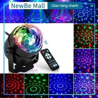 (Tặng remote có video)Đèn nháy theo nhạc led cầu 7 màu,Bóng Đèn trụ xoay mini, Đèn cảm ứng nhạc, Đèn Led xoay