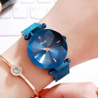 [CHÍNH HÃNG] Đồng hồ nữ Gedi dây da lộn mặt 3D