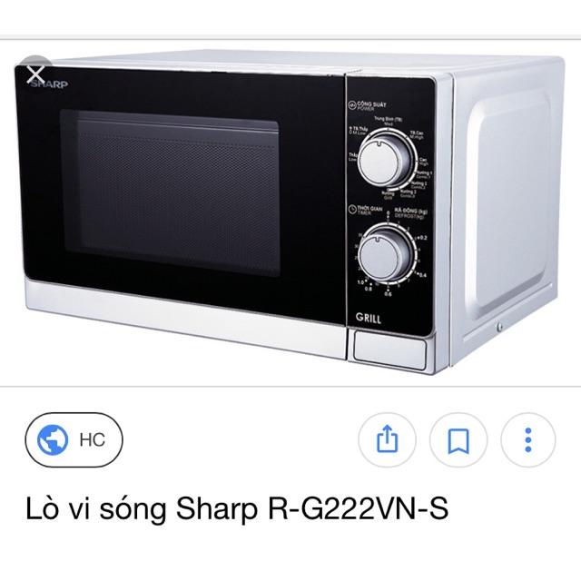 Lò Vi Sóng Sharp chính hãng R-G222 VN-S - 3367324 , 761577737 , 322_761577737 , 1550000 , Lo-Vi-Song-Sharp-chinh-hang-R-G222-VN-S-322_761577737 , shopee.vn , Lò Vi Sóng Sharp chính hãng R-G222 VN-S