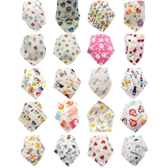 Combo 10 khăn tam giác cotton 2 lớp g