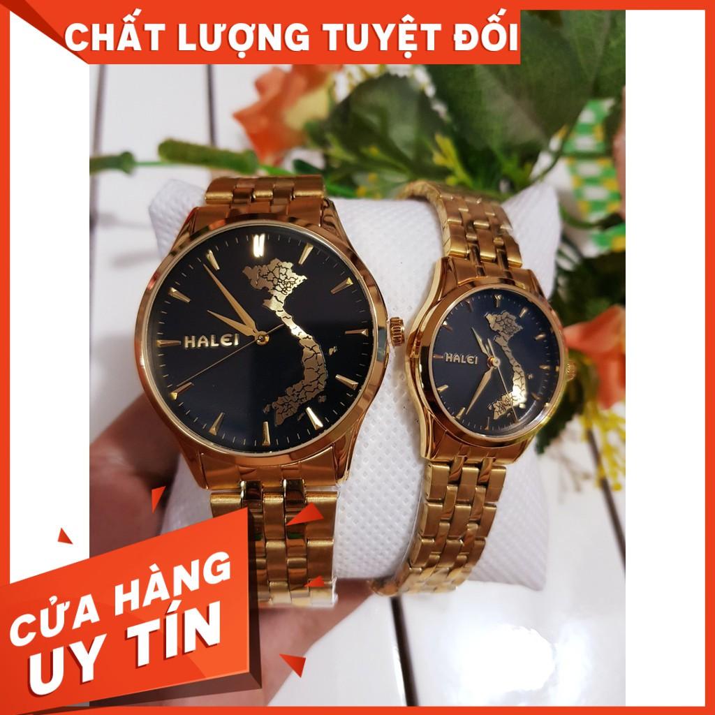 [Rẻ Vô Địch] đồng hồ nam nữ Halie - Mã HL5606M Dây kim loại cao cấp, chống xước chống nướ