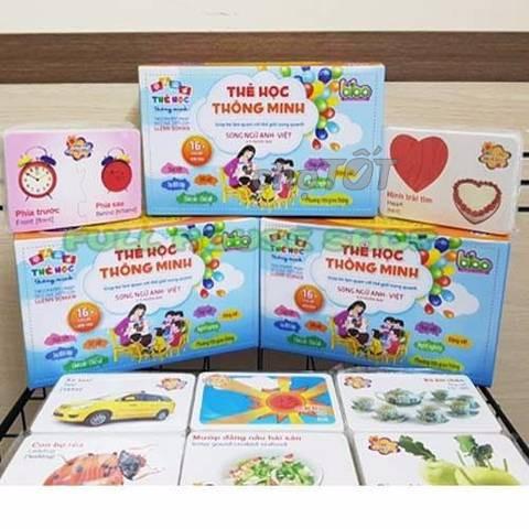 Bộ thẻ học 16 chủ đề giúp bé nhận biết thế giới xung quanh