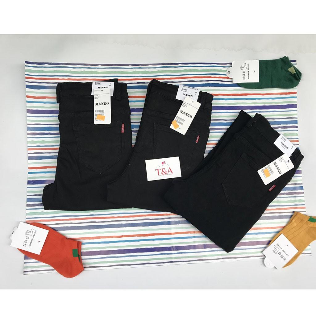 Quần Jeans Nữ Ống Pass Đen - Quần Jeans - Tashop