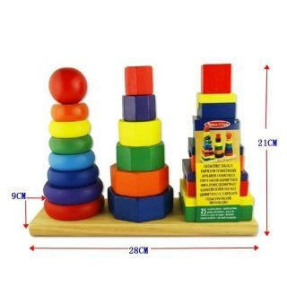 Tháp màu xếp chồng thả hình 3 cột trụ loại to