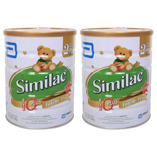 Bộ 2 hộp Sữa bột Abbott Similac IQ 2 900g (trẻ 6-12 tháng) (date 03-05/18)