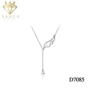 Dây chuyền bạc Ý s925 cánh Phượng Hoàng khí chất gắn đá Zircon sang chảnh D7085- AROCH Jewelry
