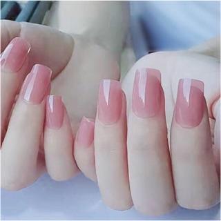 Bộ 24 móng tay giả màu hồng